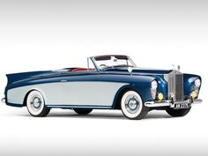 """Vintage Cars 1958 Rolls Royce Silver Cloud I """"honeymoon express"""" Drophead Coupe.isnt that name a bit too long? Bentley Rolls Royce, Rolls Royce Cars, Rolls Royce Vintage, Dream Cars, Vintage Cars, Antique Cars, Rolls Royce Silver Cloud, Automobile, Jaguar"""