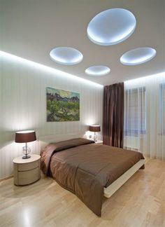 modern bedroom lighting design photo - they looks like bubbles! Modern Bedroom Lighting, Villa, Apartment Interior Design, Luxury Apartments, Ceiling Design, Luxury Interior, House Design, Bedroom Ideas, Design Bedroom