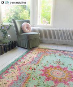 Replica vintage rug, 225cm x 155cm € 179,= free world wide shipping. #rozenkelim #pastel #interior4a - rozenkelim