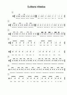1ª aula (11/02/12) - Exercícios 1) Leitura rítmica: 2ª aula (25/02/12) - Exercícios 1) Leitura rítmica: 2) Ditado: Escre... Compas Musical, Cello Sheet Music, Piano Music, Reading Music, Music Score, Piano Lessons, Music Lessons, Classical Guitar, Music For Kids