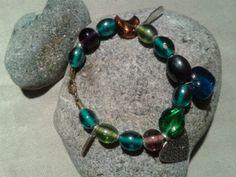 Colourful glass bead and charm bracelet by DitsyDaisyUK on Etsy, £6.00
