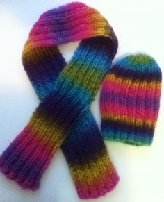 Warm Soft Hat and Scarf Set by PengwensCottage on Etsy