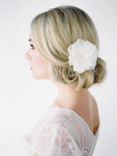 ROSA | silk bridal hair flower | Percy Handmade