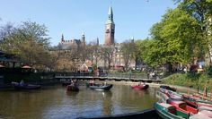 The lake in Tivoli May City Hall in the background Tivoli Gardens, Copenhagen, Denmark, City, City Drawing, Cities
