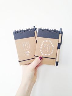 WISH LIST  hand illustrated pocket journal with pen by ohNOrachio, £6.00