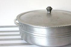 Vintage casserole etched aluminum cooking pot by MossAndBerry, $27.00
