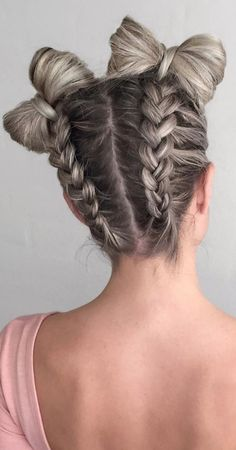 34 Space Buns You Can Easily Copy - How to Make Space Buns Tutorial, Space Buns . Hairstyles, 34 Space Buns You Can Easily Copy - How to Make Space Buns Tutorial, Space Buns Even if you are not a Star Wars fan, you should know about this hairst. Box Braids Hairstyles, Pretty Hairstyles, Girl Hairstyles, Hairstyle Ideas, How To Do Hairstyles, Wedding Hairstyles, Childrens Hairstyles, Perfect Hairstyle, Everyday Hairstyles