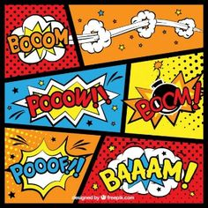 Sfondi Comic Booom-Pooow-Boom-Pooof-Baaam...my favorite sounds :)