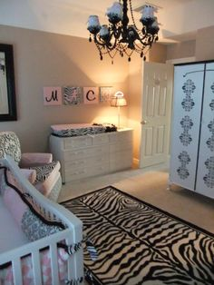Pink, Zebra and Chandelier Nursery | Project Nursery