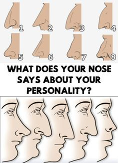 What Does Your Nose Says About Your Personality?