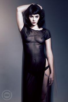 Dulcinea Melissa Clark, Stockings Lingerie, Dark Art, Eye Candy, Goth, High Neck Dress, Poses, Image, Dresses