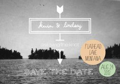 Save The Date Postcards by Lindsay Dorey, via Behance