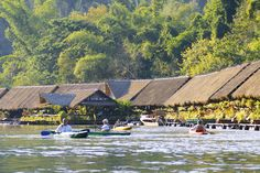 Original Floatel l River Kwai Floating Hotel in Kanchanaburi,Thailand l River Kwai Jungle Rafts Floating Resort Hotel in Thailand Places Around The World, Around The Worlds, What A Nice Day, Floating Hotel, Usa Holidays, Free Vacations, Cultural Experience, New Zealand Travel, Water Activities
