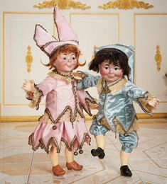 """Cotillion - The Susan Whittaker Collection : 29 Pair of German Bisque Characters """"Max"""" and """"Moritz"""" by Kammer and Reinhardt"""