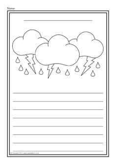 Image result for clouds writing paper black and white