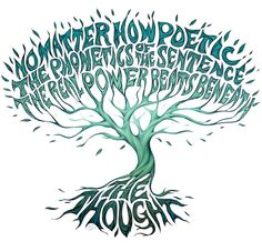 """The real power beats beneath the thought"" By Gina Kiel"