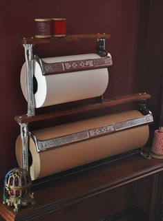 We discovered this fabulous double Vintage Paper Cutter which holds a 12″ and 24″ roll of paper. We elected to use traditional white butcher paper and our ...