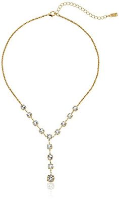 """1928 Jewelry 14k Gold-Dipped Genuine Swarovski Crystal Y-Shape Necklace, 16"""" *** Check this awesome product by going to the link at the image."""