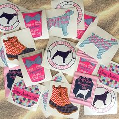 Southern Girl Prep Stickers