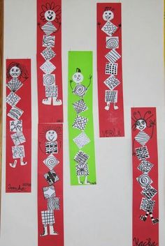 Self portrait: Lines Art History Projects For Kids, Cool Art Projects, Kindergarten Art Lessons, Art Lessons Elementary, Kindergarden Art, First Grade Art, Principles Of Art, Learn Art, Collaborative Art