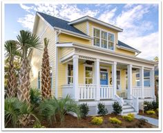 Cabins And Cottages: The Waterside. The Cottages at Ocean Isle Beach, NC. Beach Cottage Style, Beach Cottage Decor, Coastal Cottage, Coastal Homes, Cottage Homes, Coastal Style, Beach Cottage Exterior, Coastal Living, Seaside Style