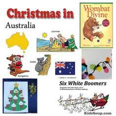 "Christmas in Australia crafts and activities. Christmas ""Downunder"" is never white. That's because Christmas in Australia comes in the middle of summer when it is hot."