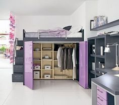 Charcoal and Lilac may be my new fav colour combo!! Gorgeous! I want this for my craft room!