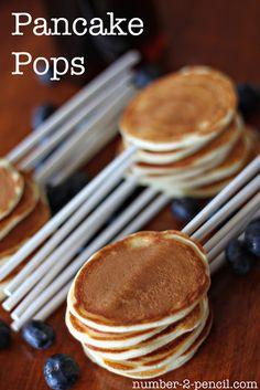 Pancake Pops -  tender, bite size pancakes on a stick