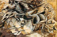 Charge des lanciers, par Umberto Boccioni
