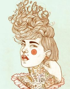 Liz Clements and Her Charming #Illustrations | #Inspiration #tattoo #ink #girl #girls #illustration #creative  http://www.webdesign.org/liz-clements-and-her-charming-illustrations.22273.html