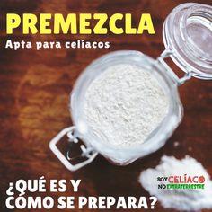 Cuando hablamos de premezcla, hablamos de harina para celíacos. Aprende más sobre este ingrediente y cómo prepararlo. Video. Vegan Keto, Vegan Gluten Free, Gluten Free Recipes, Bread Recipes, Cooking Recipes, Healthy Recipes, Healthy Food, Pizza Sin Gluten, Celiac Recipes