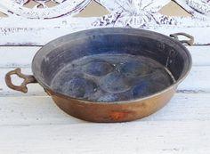 VINTAGE French Copper Escargot / Egg / by SundayFleaMarket on Etsy