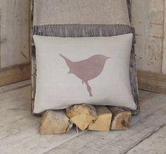 This stylish Irish linen cushion is hand-printed with a wren design in the UK. It would be the perfect gift for any budding bird watcher or nature lover and loo Personalised Cushions, Printed Cushions, Country Crafts, Cushion Covers, Creative Business, Wren, Personalized Gifts, Bed Pillows, Irish