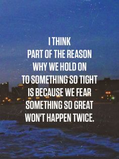 hold on or let go