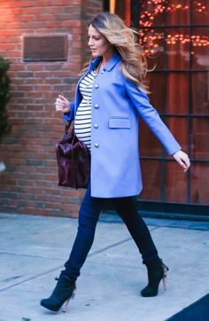 "preppyinthecity: "" daily—celebs: "" 12/4/14 - Blake Lively leaving her hotel in NYC. "" """