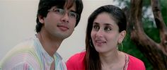 Shahid Kapoor and Kareena Kapoor in *Jab We Met* Kareena Kapoor Saree, Shahid Kapoor, K Pop, Vintage Bollywood, Ex Boyfriend, Film Industry, Prince Charming, Hd Movies, My Images