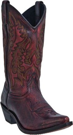 "Laredo Women's 11"" Tremaine Cowboy Western Flower Arrow Boots Sanded Red 9 M Laredo http://www.amazon.com/dp/B00BDDD1SQ/ref=cm_sw_r_pi_dp_wf7-ub1N2FEC6"