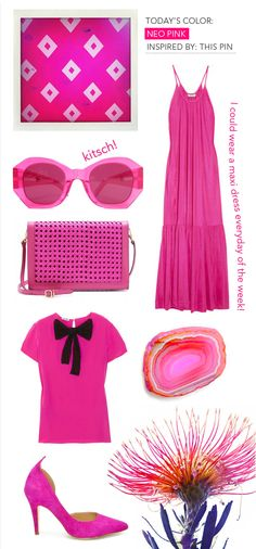Pink is the color of the moment!!