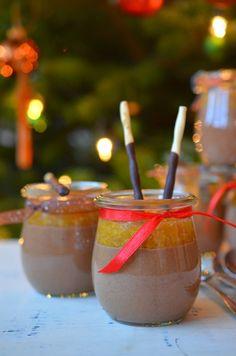 Ninas kleiner Food-Blog: Schokoladen-Zimt-Mousse mit Clementinenkompott