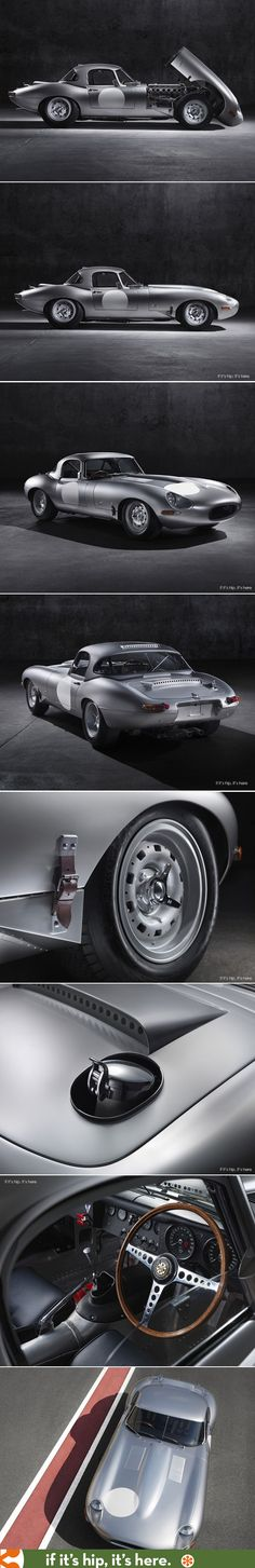 """The """"new"""" Jaguar Lightweight E-Type. 6 cars hand-crafted at Jaguar's Browns Lane plant in Coventry, England and built to the original specifications of the last Lightweight E-type produced in 1964."""