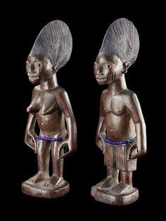 Yoruba Ere Ibeji (Twin Figure), Egba - Abeokuta, Nigeria http://www.imodara.com/post/91778749154/nigeria-yoruba-ere-ibeji-twin-figure-egba