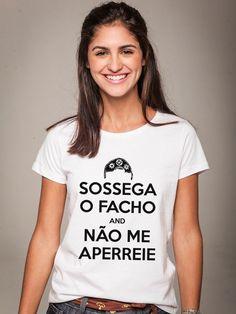 $69 Camiseta Feminina Huck Não me Aperreie - Feminino