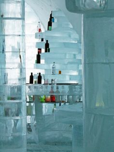 Cool drinks - Ice Hotel - Norrbotten, Sweden