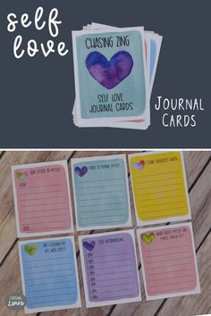Self Love Printable Journal Cards Writing Lines, Writing Skills, Writing Prompts, Journal Prompts, Journal Cards, Increase Confidence, Love Journal, Meaningful Conversations, Your Teacher
