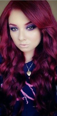 Love her Deep Red hair with matching eyebrows.