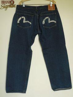 EVISU Jeans men s 38 X 31 Lot 0001 Straight Relaxed Cut Mens Leisure Wear, Evisu Jeans, Men's Fashion, Casual, How To Wear, Pants, Clothes, Moda Masculina, Trouser Pants