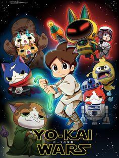 @YokaiWatchFR en Star Wars #Dessin de Sakiko Amana