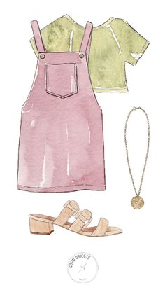 Fashion design sketches 693132198881390554 - Good objects – Pink jumper + green t shirt watercolor illustration Source by Kelpie_Chan Dress Design Sketches, Fashion Design Sketchbook, Fashion Design Drawings, Fashion Sketches, Drawing Sketches, Drawing Art, Drawing Tips, Fashion Illustration Tutorial, Fashion Illustration Face