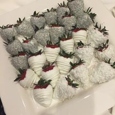 Chocolate covered strawberries toppings ideas designs silver color