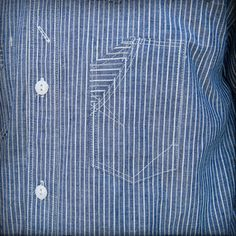 Brotherhood Selvedge Stripe LS Shirt